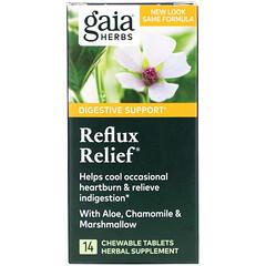 Gaia Herbs, 緩解反流,14 片咀嚼片