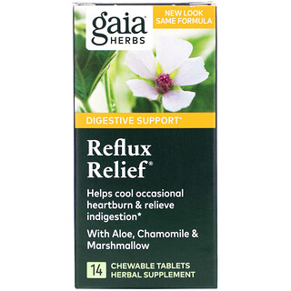 Gaia Herbs, Reflux Relief, 14 Chewable Tablets