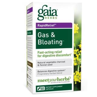 Gaia Herbs, 가스 & 복부팽창, 50 베지 캡