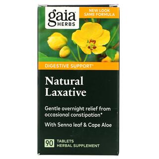 Gaia Herbs, Natural Laxative, 90 Tablets