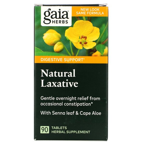 Gaia Herbs, Natural Laxative, 90 Tablets