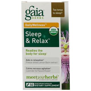 Gaia Herbs, 快速舒缓,睡眠和放松,50 粒胶囊