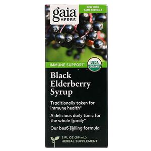 Гайа Хербс, Black Elderberry Syrup, 3 fl oz (89 ml) отзывы