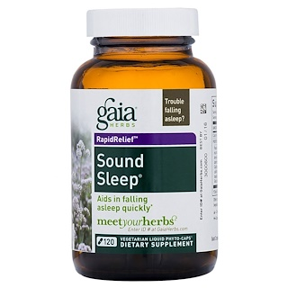Gaia Herbs, RapidRelief, Sound Sleep, 120 Vegetarian Liquid Phyto Caps