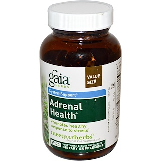 Gaia Herbs, Adrenal Health、120ベジ・リキッド・フィトキャップ