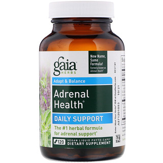 Gaia Herbs, Adrenal Health, 120 Vegan Liquid Phyto-Caps