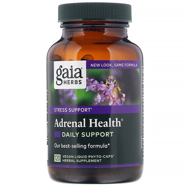 Adrenal Health, Daily Support , 120 Vegan Liquid Phyto-Caps