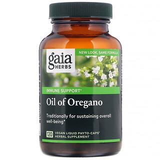 Gaia Herbs, Oil of Oregano, 120 Vegan Liquid Phyto-Caps