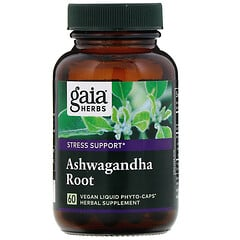 Gaia Herbs, 南非醉茄根,60 粒純素液體植物膠囊