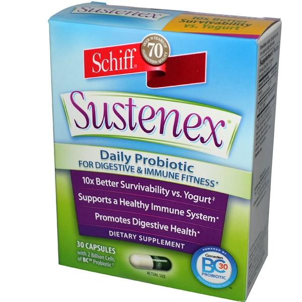 Schiff, Sustenex, Daily Probiotic, 30 Capsules (Discontinued Item)