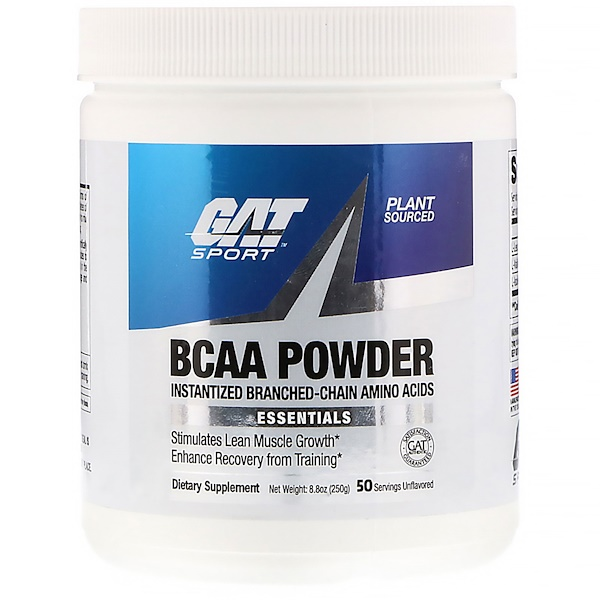 GAT, BCAA Powder, Unflavored, 8.8 oz (250 g) (Discontinued Item)