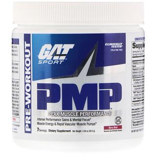 GAT, PMP, Pre-Workout, Peak Muscle Performance, Berry Blast, 2.09 oz (59.5 g)