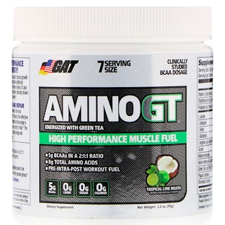 GAT, Amino GT, High Performance Muscle Fuel, Tropical Lime Mojito, 3.2 oz (91 g)