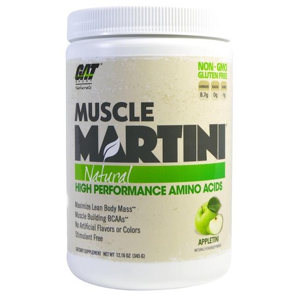 GAT, Muscle Martini, Natural, Appletini, 12.16 oz (345 g) (Discontinued Item)