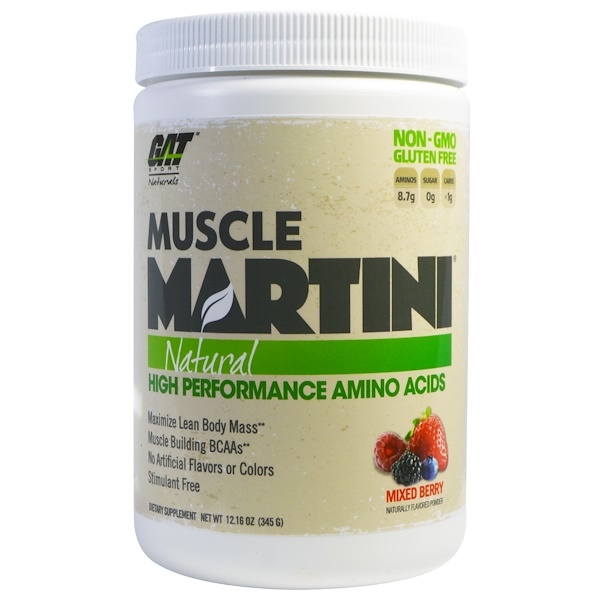 GAT, Muscle Martini, Natural, Mixed Berry, 12.16 oz (345 g) (Discontinued Item)
