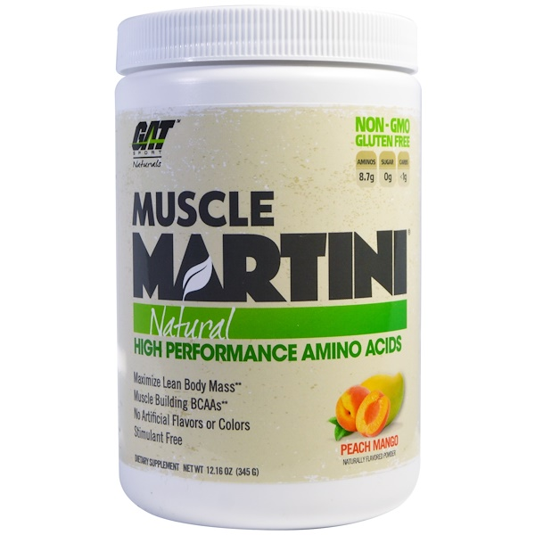 GAT, Muscle Martini, Natural, Peach Mango, 12.16 oz (345 g) (Discontinued Item)