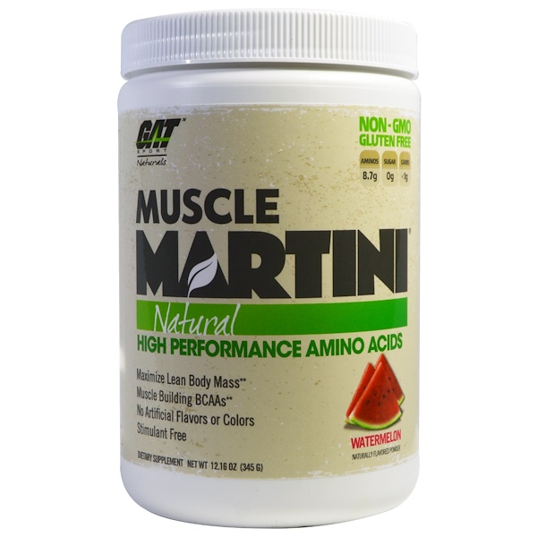 GAT, Muscle Martini, Natural, Watermelon, 12.16 oz (345 g) (Discontinued Item)