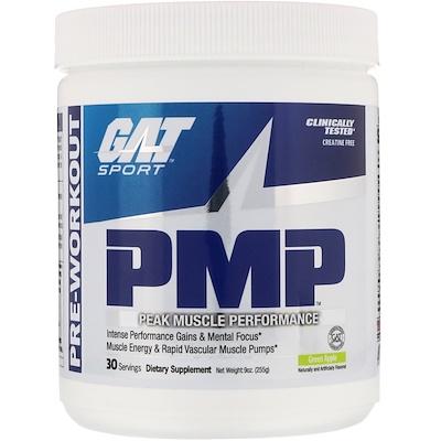 Купить PMP, перед тренировкой, пиковая производительность мышц, зеленое яблоко, 9 унций (255 г)