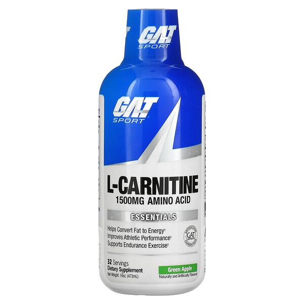 GAT, L-Carnitine, Amino Acid, Green Apple, 1,500 mg, 16 oz (473 ml)