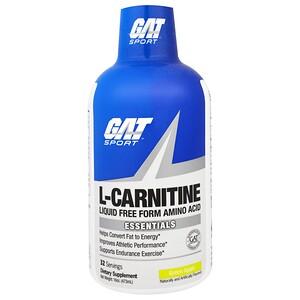 ГАТ, L-Carnitine, Amino Acid, Free Form, Green Apple, 16 oz (473 ml) отзывы покупателей