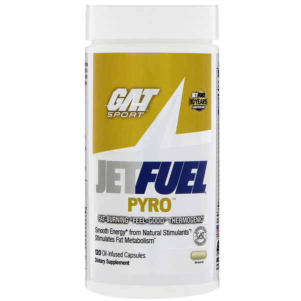 GAT, JetFUEL Pyro, 120 Oil-Infused Capsules