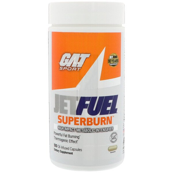 GAT, JetFUEL Superburn, 120 Oil-Infused Capsules