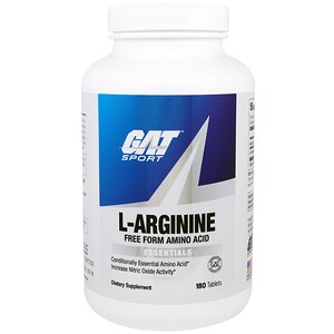 ГАТ, L-Arginine, Free Form, 180 Tablets отзывы покупателей