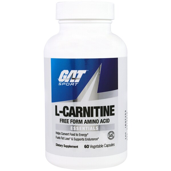 GAT, L-Carnitine, Amino Acid, Free Form, 60 Vegetable Capsules