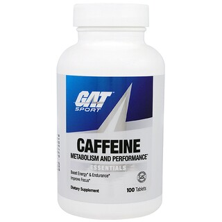 GAT, Caffeine Metabolism and Performance, Essentials, 100 Tablets
