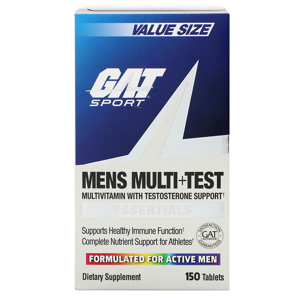 GAT,  Mens Multi + Test، 150 حبة