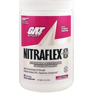 GAT, Nitraflex+C, Cotton Candy, 14.8 oz (420 g)