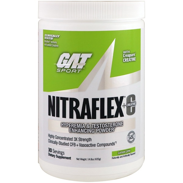 NITRAFLEX + Creatine, Lemon Lime, 14.8 oz (420 g)