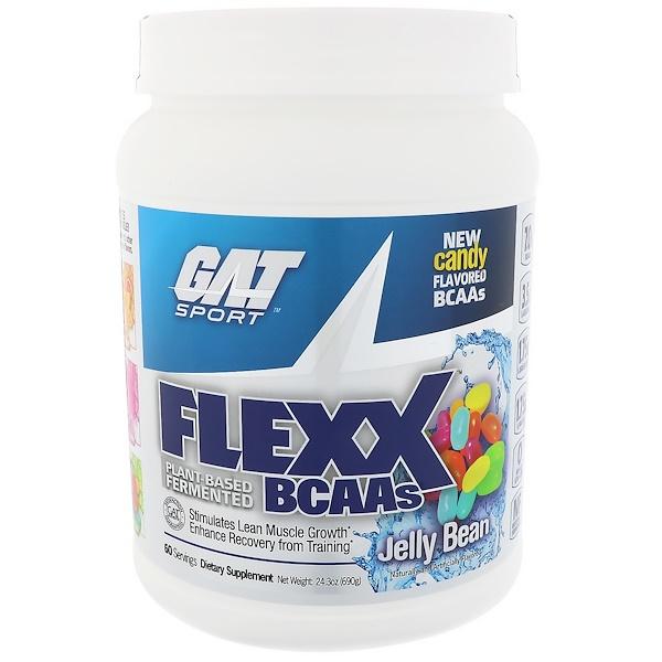 GAT, Flexx BCAAs, frijol de jalea, 24.3 oz (690 g)