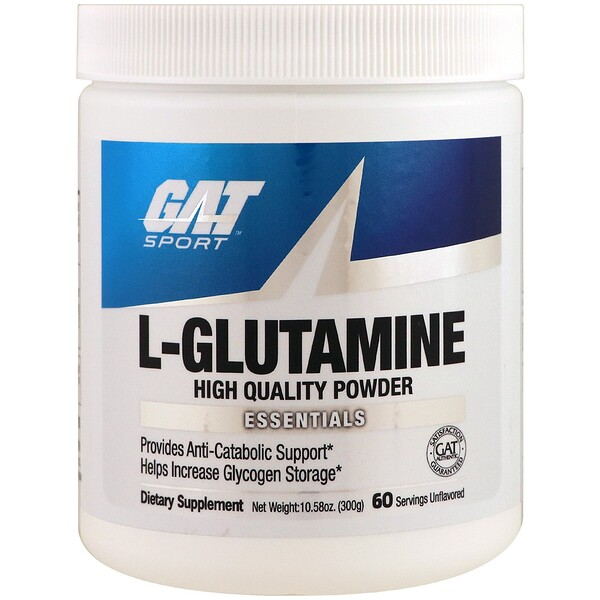 GAT, L-Glutamine, Unflavored, 10.58 oz (300 g)