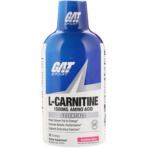 ГАТ, L-Carnitine, Amino Acid, Rainbow Burst, 1,500 mg, 16 oz (473 ml) отзывы