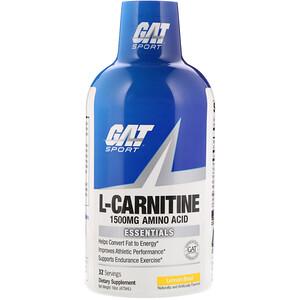 ГАТ, L-Carnitine, Amino Acid, Lemon Blast, 1,500 mg, 16 oz (473 ml) отзывы