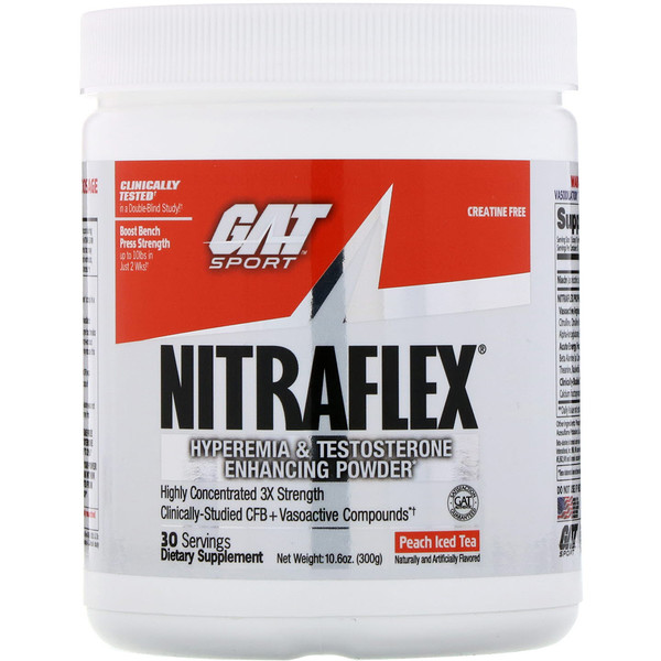 NITRAFLEX, Peach Iced Tea, 10.6 oz (300 g)