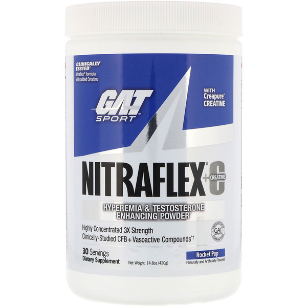 GAT, Nitraflex+Creatine, Rocket Pop, 14.8 oz (420 g)