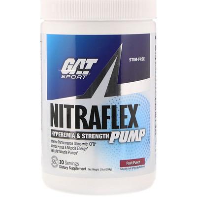 Купить GAT Nitraflex Pump, фруктовый пунш, 10 унц. (284 г)