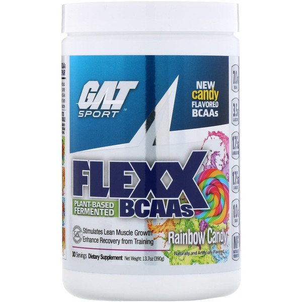 GAT, Flexx BCAAs, Rainbow Candy, 13.7 oz (390 g)