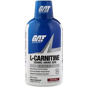 GAT, Liquid L-Carnitine, Mixed Berry, 1500 mg, 16 oz (473 ml)