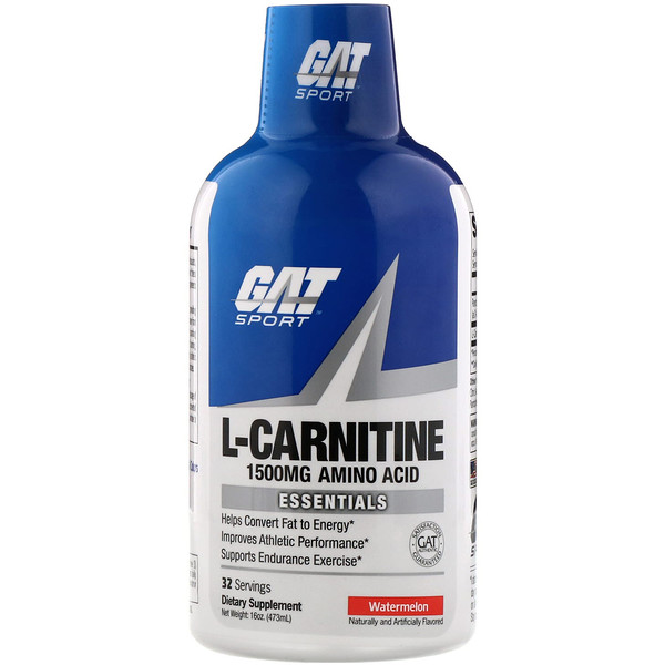 GAT, Liquid L-Carnitine, Watermelon, 1500 mg, 16 oz (473 ml)