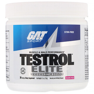GAT, Testrol Elite, Testosterone Booster, Raging Razz, 6.1 oz (174 g)