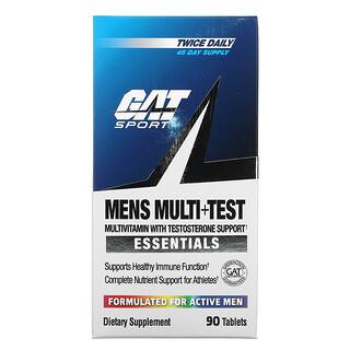 GAT, فيتامينات متعددة مع دعم هرمون التستوستيرون، Men's Multi+Test، عدد 90 قرص