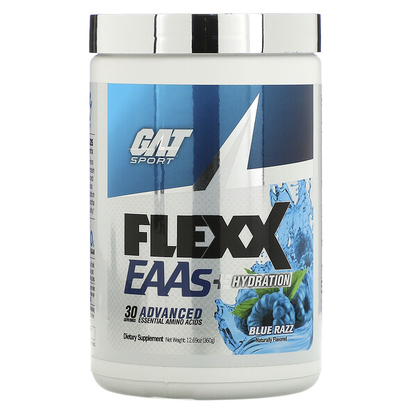 Flexx EAAs + Hydration, Blue Razz, 12.69 oz (360 g)