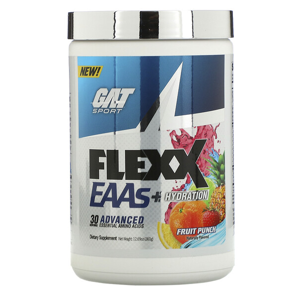 Flexx EAAs + Hydration, Fruit Punch, 12.69 oz (360 g)