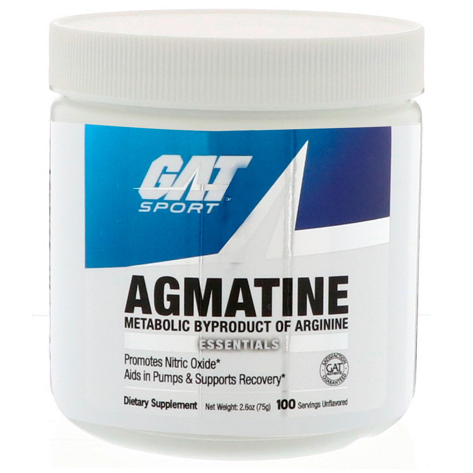 GAT, Essentials、アグマチン、フレーバー無パウダー、2.6 oz (75 g)
