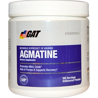 GAT, Essentials, Agmatine, Unflavored Powder, 75 g