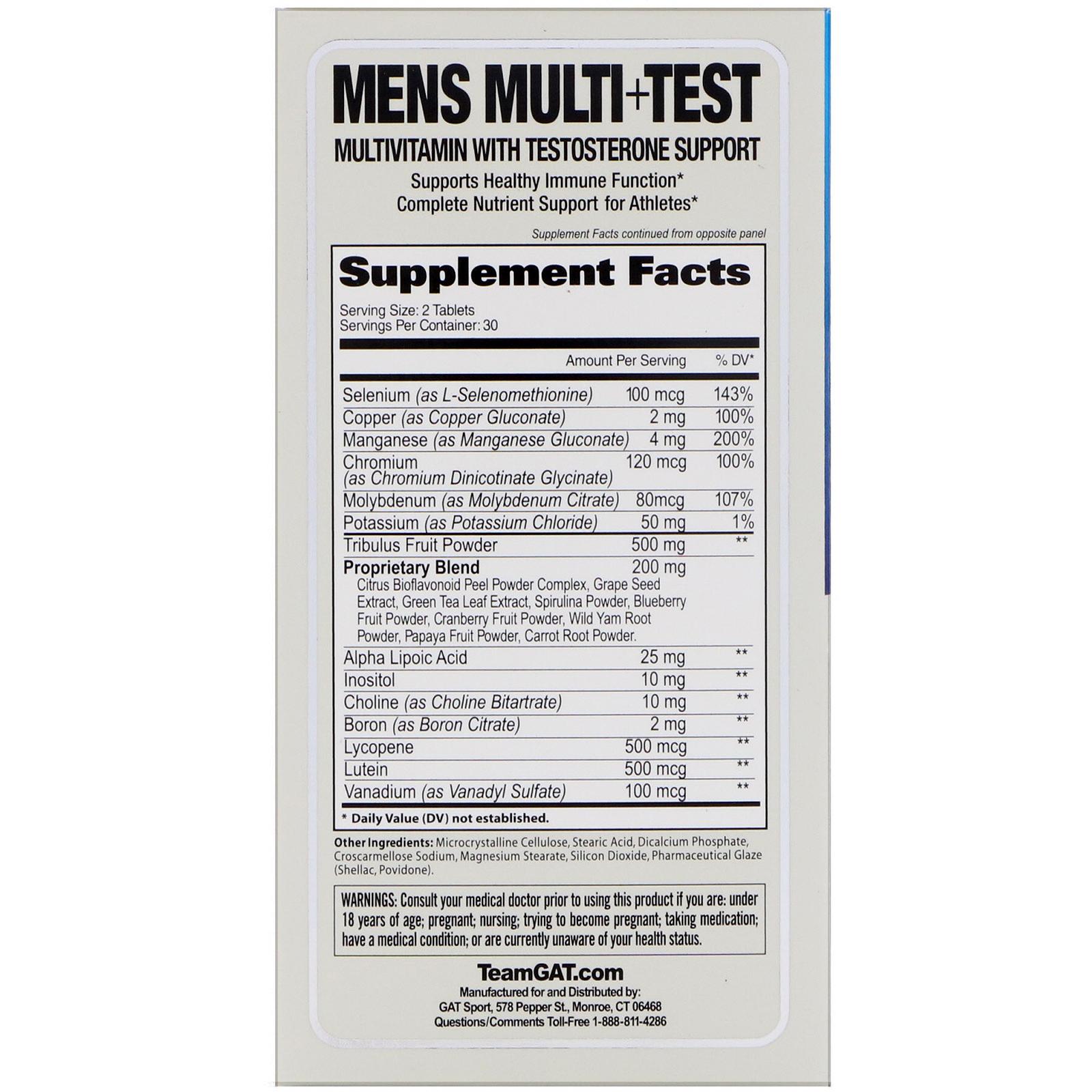 multivitamine test