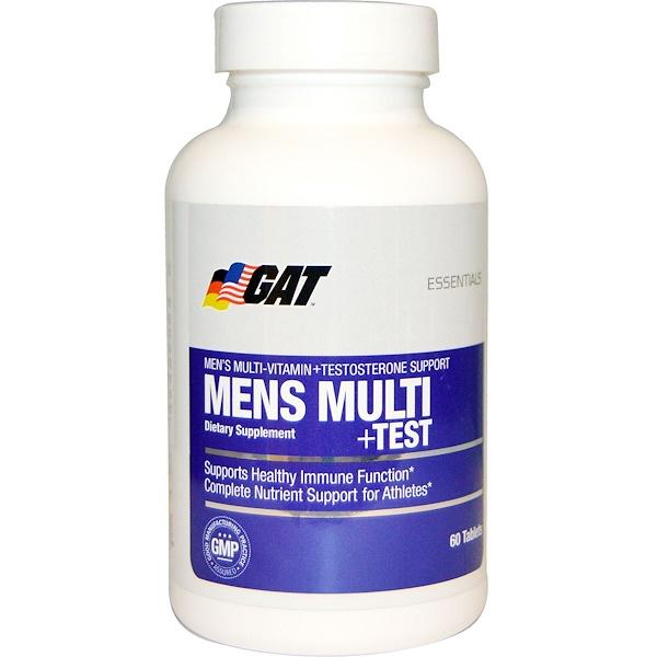 GAT, Essentials Men's Multi + Test, 60 Tablets